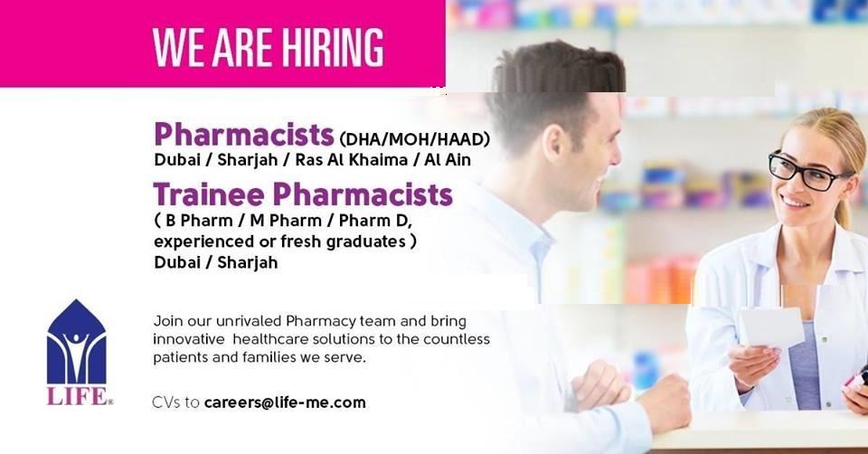 LIFE Pharmacy – Abroad Opportunity for Fresh & Exp. B.Pharm / M ...